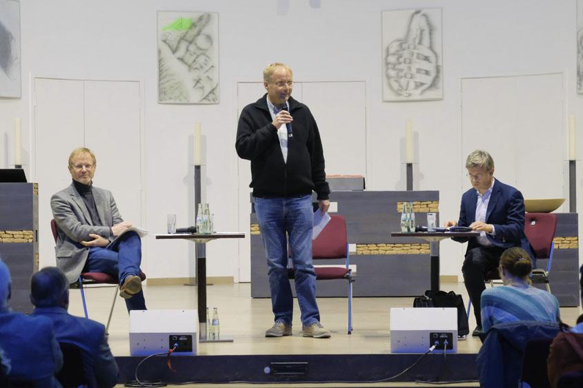 Dr. Frank Vogelsang, Reinhard Wiesemann und Helmut Fink