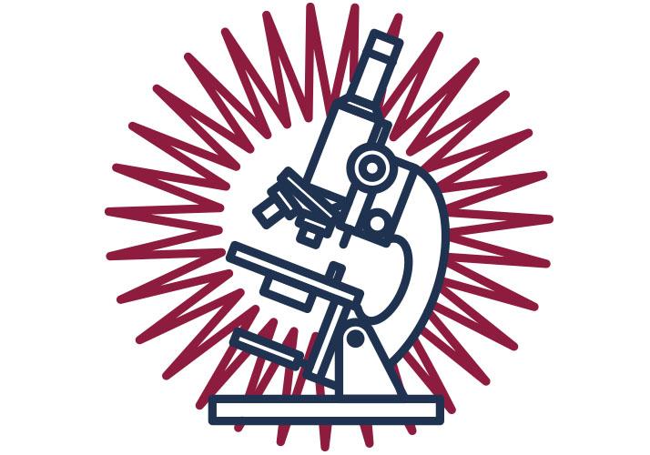 Mikroskop im Strahkenkranz