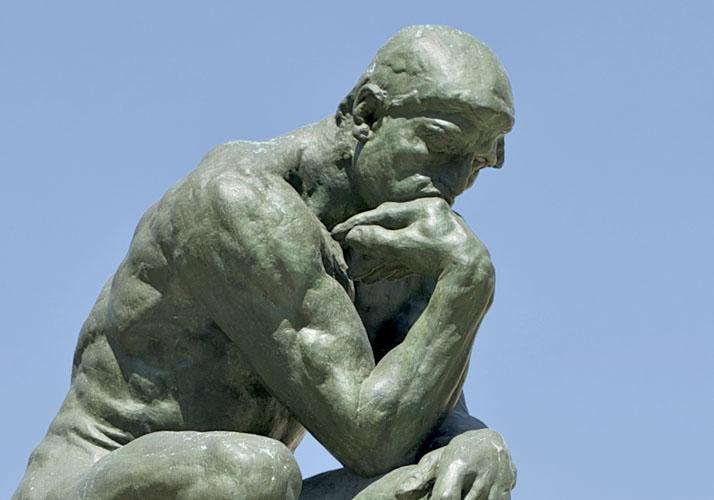 Skulptur »Der Denker« von Auguste Rodin