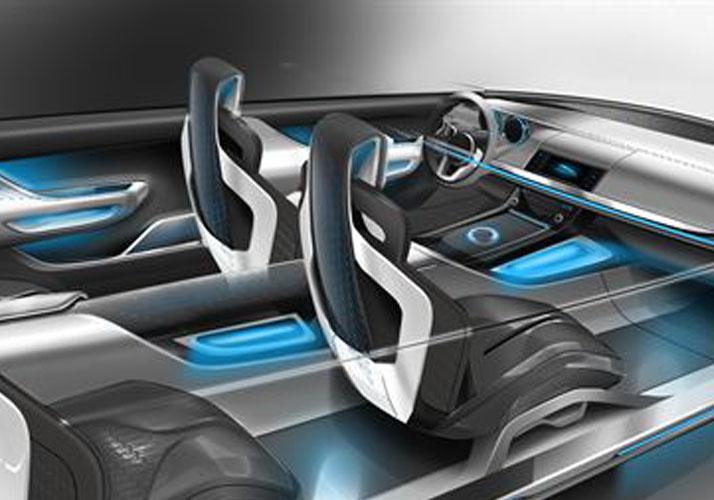 Futuristisches Fahrzeug-Cockpit