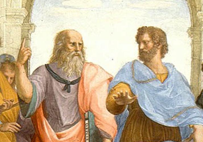 »Die Schule von Athen« (Ausschnitt) von Raffael