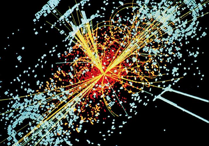 Partikelspuren aus Teilchenbeschleuniger-Experiment