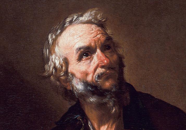 Jusepe de Ribera: »Ein Philosoph« (Ausschnitt)