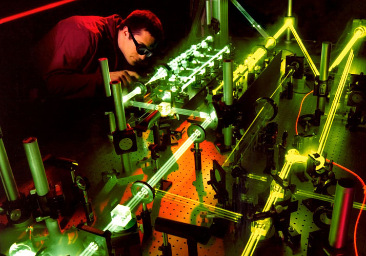 Laser-Experiment in Labor
