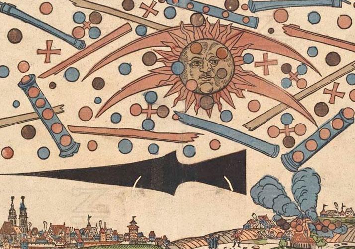 Himmelserscheinung über Nürnberg vom 14.04.1561 (Künstler: Hanns Glaser)