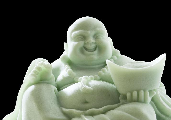 Lachende Buddha-Figur
