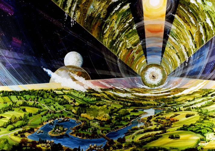 »Weltraumkolonie« (Rick Guidice)